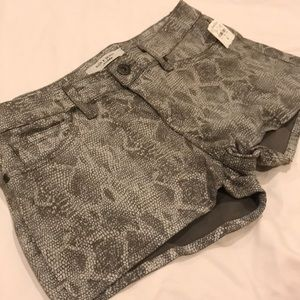 Rich and Skinny Python Print Shorts